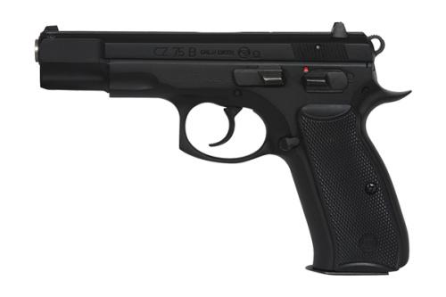 CZ  75 B Omega Semi-Auto Pistol, 9MM, 4.5'' Bbl Black Steel Frame, Black Rubber Grip, 10 Rnd, SA/DA, Luminiscent Sights, Decocking+Manual Safety?>