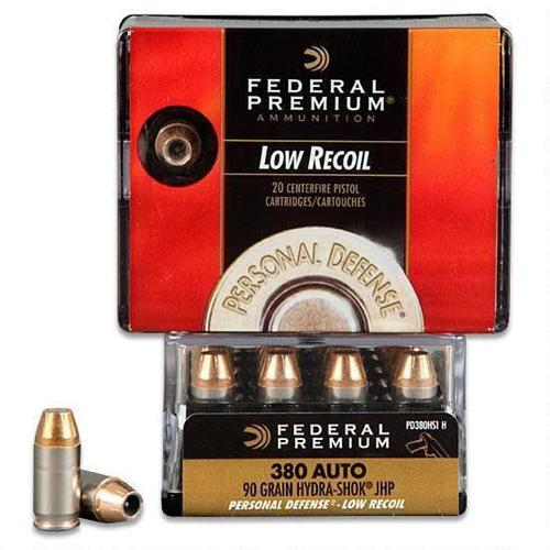 Federal .380 ACP 90gr HydraShok JHP Low Recoil 20 Rounds?>