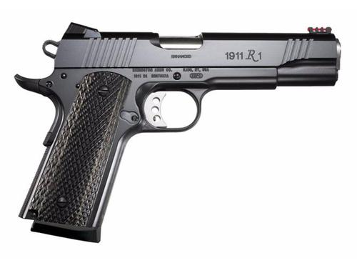Remington 1911 R1 Enhanced Semi Auto Pistol 45acp, 5 in, Blk Frame, Target Trigger,fiber sight?>