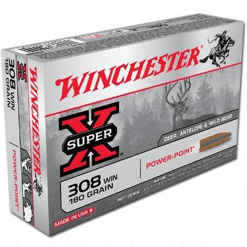 Winchester 308 Win 180gr Power Point 20/box?>