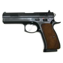 CZ  97 B Semi-Auto Pistol, 45 ACP, 4.5'' Bbl, Black Steel Frame, Wood Grip, 10 Rnd, SA/DA, Luminiscent Sights, Manual Safety?>