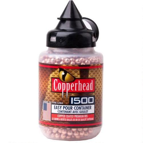 Crosman Copperhead BBs .177 Caliber Stainless Steel Copper Coated, 5.23 Grain, 1500 Round?>