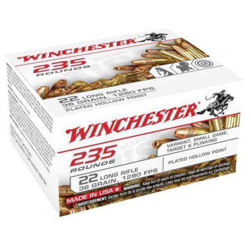 WINCHESTER Winchester Rimfire Ammo 22 LR, CPHP, 36 Grains, 1280 fps 235 Rounds, Boxed?>