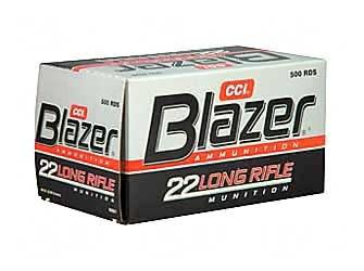 CCI CCI Blazer .22 LR ammo High Velocity Ammunition 500 Rounds Lead Round Nose 40 Grain 1,235 fps?>