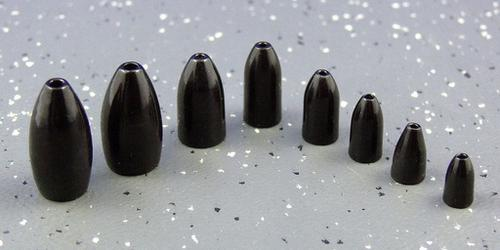 Ultra Tungsten Ultra Tungsten Bullet Weight Black 3/16oz (4pcs/pk)?>