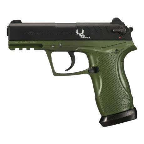 Gamo C-15 Bone Collector Blowback Air Pistol 177 Caliber BB and Pellet Green and Black Frame?>