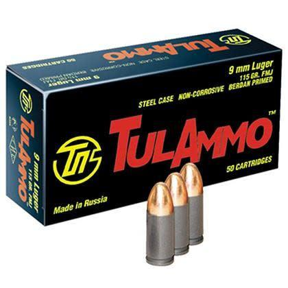 TulAmmo 9mm Luger 115 Gr FMJ Steel Case 2000RS (NON-CORROSIVE) PICK-UP ONLY?>