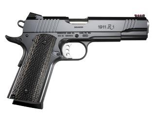 Remington Remington 1911 Semi Auto Pistol 45 ACP, 4.25 in, Wood Grp 8+1 Rnd, Blk Frame, Skeletonized Trgr?>