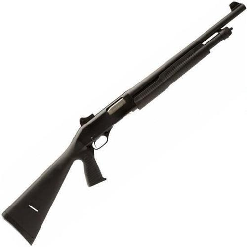 "Savage Stevens 320 Security Pump Action Shotgun 20 Gauge 18.5"" Barrel 5 Rounds Ghost Ring Sight Black Synthetic Stock with Vertical Pistol Grip Black 22439?>"