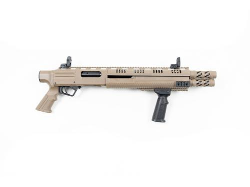 "HUNT GROUP MH12 PUMP 12GA 3"" 12+2rds 17""BL PISTOL  STOCK FDE?>"