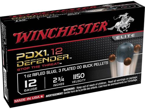WINCHESTER Winchester  Defender Shotshell 12 GA, 2-3/4 in, No. 00B 1 oz, 1150 fps, 10 Rnd per Box?>