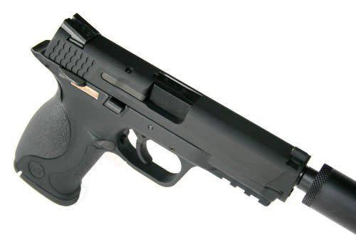 we WE M&P Black w extended barrel and silencer?>