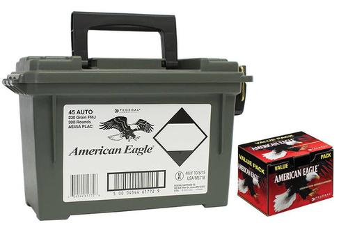 Federal Federal American Eagle 45 ACP Auto 230gr 300 rd with ammo box?>