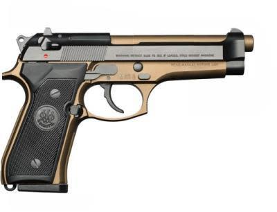 "BEREETA 92FS BURNT BRONZE 9mm 4.9"" 3DOT/BLUED?>"