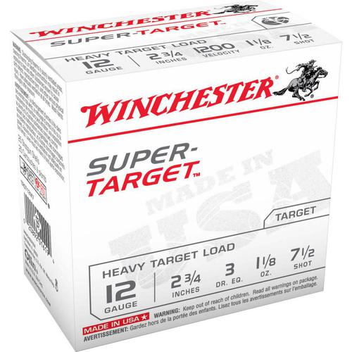 Winchester Super-Target Trap Load 12 GA, 2-3/4'', #7.5, 1-1/8 oz, 2-3/4 dr, 25 Rnds, in box?>