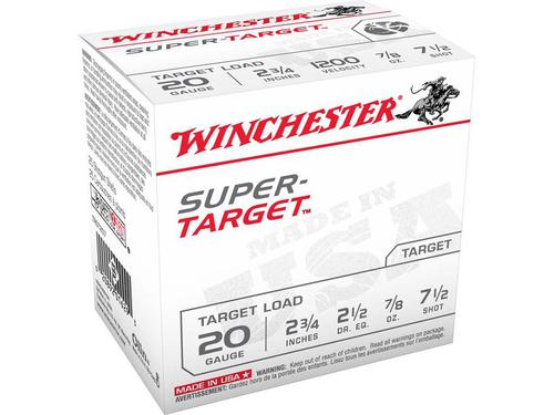 "Winchester TRGT127 Super-Target Trap Load 12 GA, 2-3/4"", #7.5, 1-1/8 oz, 2-3/4 dr, 10 boxes?>"