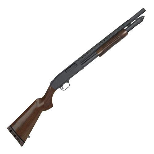 Mossberg 590 Retrograde 12 Ga 18.5″ Barrel 3″ Chamber 6+1 Walnut Stock?>