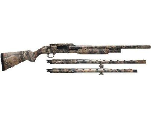 "Mossberg Mossberg 535 3-Barrel Combo, 12 Gauge Shotgun, 3.5"" Chamber, 24"" Rifled Barrel w/Cantilever, 24"" Turkey/Field Barrel with Fiber Optic Sights, 28"" Bird Barrel?>"