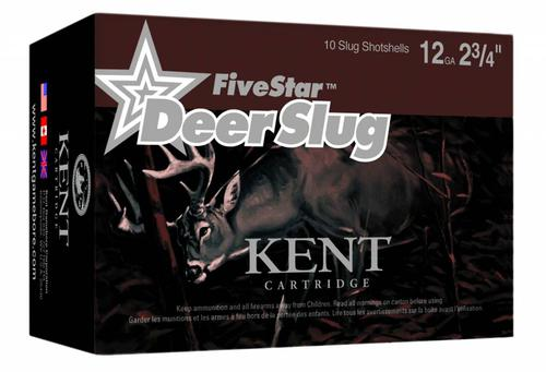 Kent Cartridge Kent Cartridge FiveStar Rifled Deer Slug 12Ga. 2-3/4'', 1750FPS (10 Rounds)?>