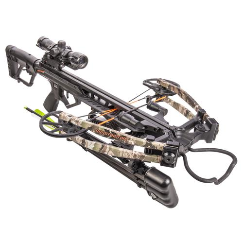 Bear Archery BearX Constrictor CDX Crossbow Package with Illum Scope Rope & Bolts RH / LH - Veil Stroke Camo?>