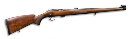 "CZ 455 FS Rimfire Bolt Action Rifle - 22 LR, 20-1/2"", Cold Hammer Forged, Blued, Turkish Walnut Stock, 5rds, Adjustable Sights, Adjustable Trigger?>"