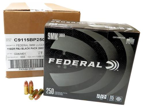 FEDERAL BLACK PACK 9MM 115GR BLAZER BRASS 1000RDS?>