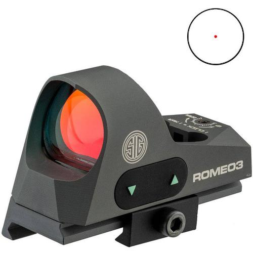 Romeo 3 Reflex sight 1x25mm, 3 moa red dot 1.0 MOA adjust M1913 with riser, Graphite?>