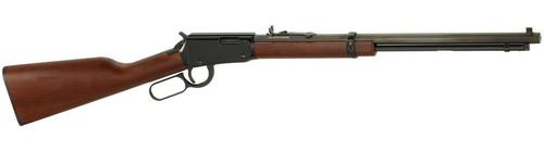 Henry Henry Lever Rifle h001m 22 WMR Ambi, 19.25 in, Blued, Wood Stk 11+1 Rnd?>