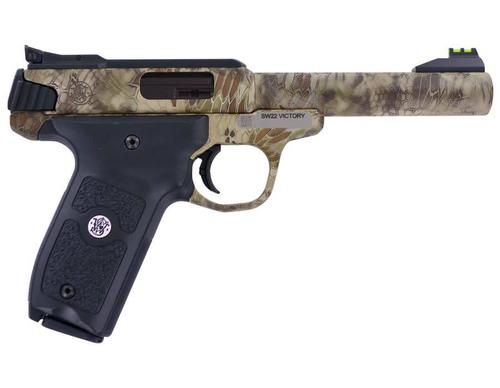 Smith & Wesson Smith & Wesson SW22 Victory Semi-Auto Pistol 22LR 5.5'' 10Rd Single Action  SW22  Kryptek Highlander?>