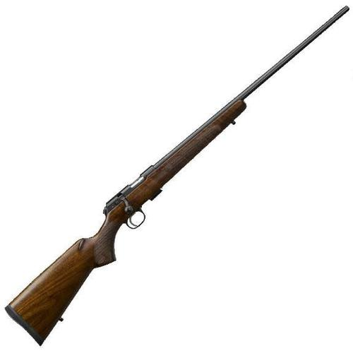 CZ 457 American 22 LR 24″ Threaded Barrel 1/2×20 Walnut?>