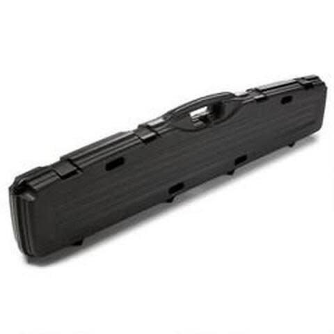 "Plano Pro-Max Single Scoped Rifle Case 52"" Length PillarLock Crush Resistant Heavy Duty Latches Molded In Handle Thick Walled Construction Polymer Matte Black?>"