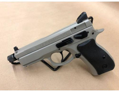 "CZ 75 P-01 Omega Semi-Auto Pistol, 4.4"" Threaded Barrel, 10 Round, Urban Grey 0434-0762-7818102?>"