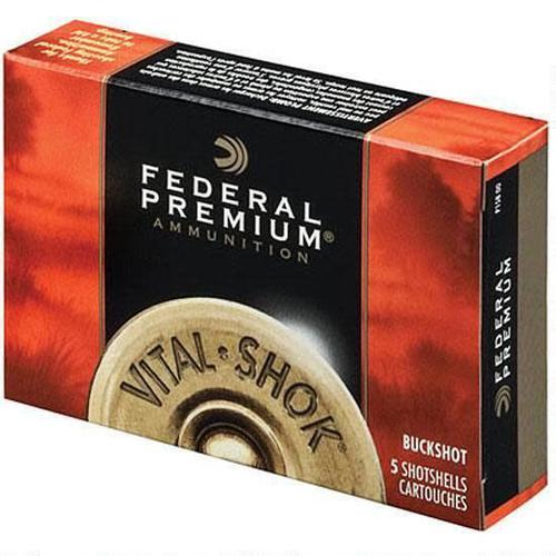 "Federal Federal Vital-Shok 12 Ga 3.5"" 00 Buck 18 Pellets 5 Rounds?>"