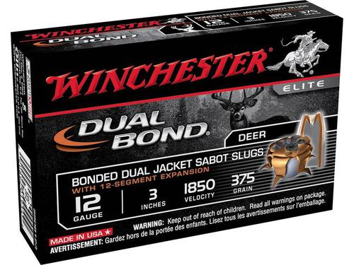 Winchester SSDB123 Elite Dual Bond Sabot Slugs,5 rd/Box 12Ga 3In 55/64 oz 1850?>