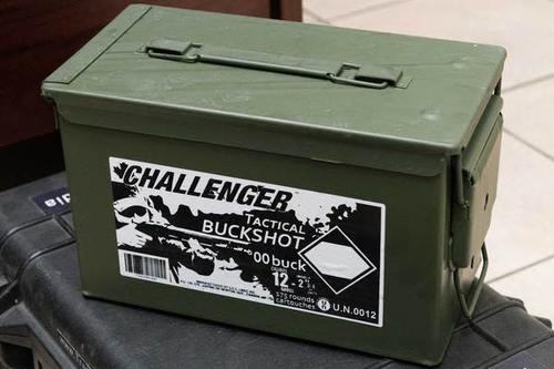 Challenger 12ga 2 3/4 00 Buck shot  pack Magnum - Can of 175 Shells?>