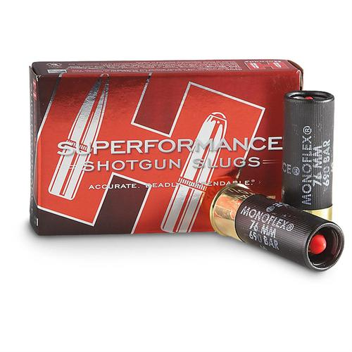 "HORNADY SUPERFORMANCE 12GA SLUG 2 3/4 "" 300gr MONOFLEX FOR RIFLED BARRELS?>"