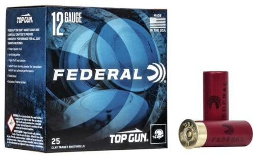 Federal Top Gun Target Load, 12 Ga 2 3/4″ #7.5 Shot 11/8oz 1200FPS 250rds/Case?>