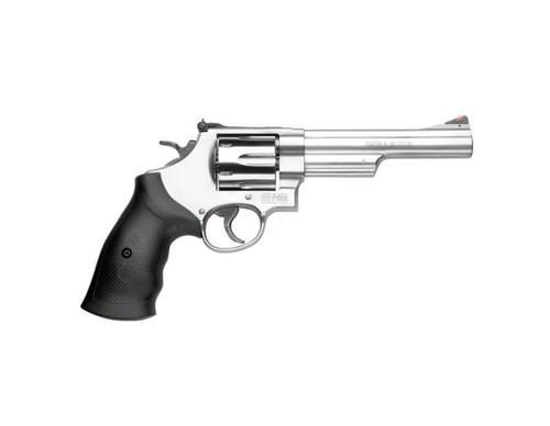 "S&W Smith Wesson 629 Revolver .44 Magnum 6"" Barrel 6 Rounds Rubber Grip Stainless?>"