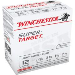 WINCHESTER Winchester TRGT127 Super-Target Trap Load 12 GA, 2-3/4'', #7.5, 1-1/8 oz, 2-3/4 dr, 25 Rnds, in box single?>