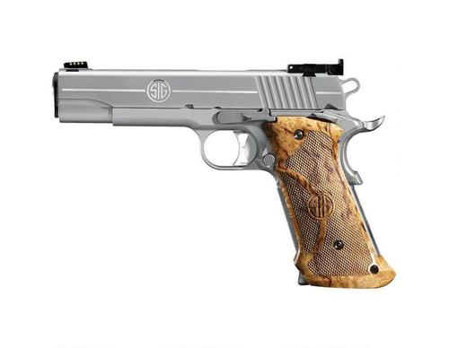 Sig Sauer Sig Sauer 1911 Super Target Semi Auto Pistol 45 ACP, 5 in, Wood Grp, 8+1 Rnd, Full Sz Frame, Skeletonized Trgr?>