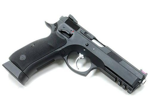 KJ WORKS KJ Works CZ75 SP-01 Shadow CO2/Gas Blowback Pistol ( Black )?>