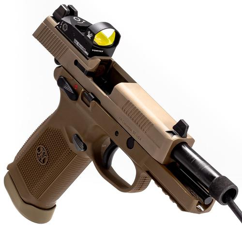 FN FNX-45 Tactical With Vortex Venom 45 ACP 5.3″ Pistol-FDE?>