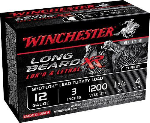 WINCHESTER Winchester STLB1234  12ga 3'' 1-3/4o 4Shot Long Beard Xr Lead Turkey?>
