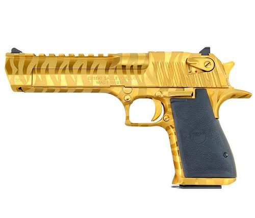 Desert Eagle 50AE, Titanium Gold W/ Tiger Stripes?>