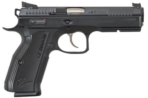 "CZ-USA 91763 Accushadow 2 Semi-Auto Pistol 9MM, 4.9"", 10 Rnd, SA/DA, FO Front, HAJO Rear, Ambi Man Safety?>"