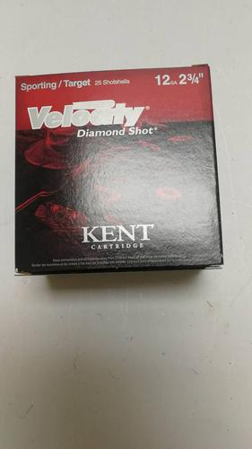 Kent Cartridge Kent Cartridge Velocity Diamond Shot,12GA, 250 rd , 2 3/4' 24gram, 1200 fps 7.5?>