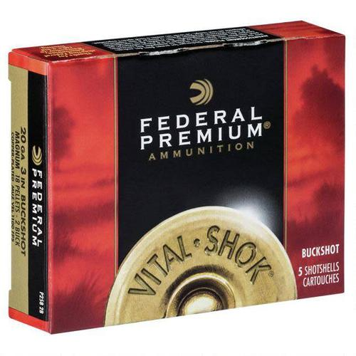 "Federal Federal Vital-Shok 20Ga 5rds 3"" #2 Copper Plated Buck Shot?>"