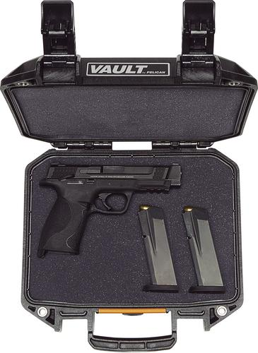 Pelican Vault V100 Small Pistol Case With Foam-Black?>