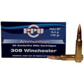 PPU Rifle 308 winFMJBT 145Gr 20/box?>