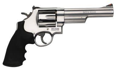 Smith & Wesson  Classic Revolver 44 MAG, 6.5 in, Syn Grp, 6 Rnd, Red Ramp Front & Adjustable Rear, Large S/S Frame?>